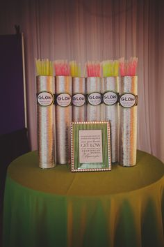 Glow sticks to get the dance floor party started- Bridal Bliss Wedding