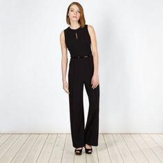 Jonathan Saunders/EDITION Designer black crepe belted jumpsuit- at Debenhams.ie