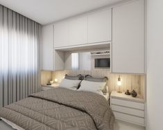 Different Types Bedroom Furniture And How To Make Your Bedroom Beautiful – Home Dcorz Wardrobe Behind Bed, Bedroom Built In Wardrobe, Bedroom Built Ins, Fitted Bedroom Furniture, Fitted Bedrooms, Bedroom Closet Design, Interior Design Living Room, Modern Master Bedroom, Small Room Bedroom