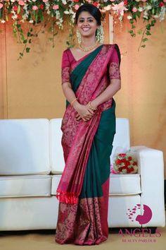 Discover thousands of images about Saree Kuchu Designs Indian Blouse Designs, Saree Kuchu Designs, Pattu Saree Blouse Designs, Saree Blouse Patterns, Blouse For Silk Saree, Sari Design, Indische Sarees, Silk Saree Kanchipuram, Bridal Silk Saree