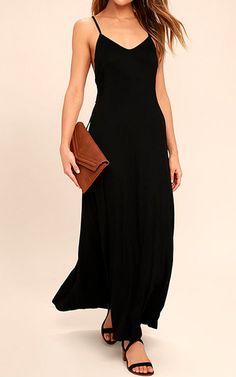 Ever Amazed Black Lace Up Maxi Dress via @bestmaxidress