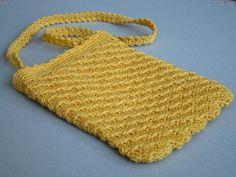 little yellow crochet bag