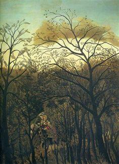 Henri Rousseau, Rendez Vous in the Forest, 1886 - Style: Post-Impressionism Genre: genre painting oil, canvas 92 x 73 cm