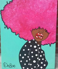 Natural Hair Art ....Love Pink