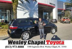 https://flic.kr/p/CixBeV | Congratulations Francisco on your #Toyota #Sienna from Cory Canty at Wesley Chapel Toyota! | deliverymaxx.com/DealerReviews.aspx?DealerCode=NHPF
