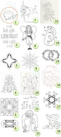 Free hand-embroidery patterns · Needlework News | CraftGossip.com