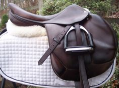 Saving the $$$ for this beauty. All $2790.00 for it. 18 Devoucoux Chiberta french cross country jumping close contact saddle. Isn't it a beauty!!