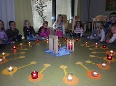 geschichte über licht kindergarten - Google-Suche Advent Prayers, New Year Text, Kindergarten Portfolio, Godly Play, Prayer Stations, Waldorf Education, Religious Education, Christmas And New Year, Montessori