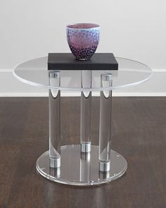 Anthony Acrylic Side Table at Neiman Marcus.