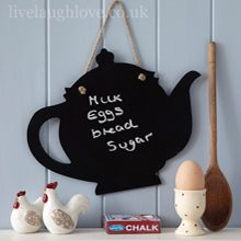Hanging Tea Pot Blackboard