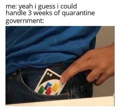 Week 3 of quarantine is upon us and the only thing keeping us from going insane are memes, tiger king, and zoom meetings. Stay home, wash your hands, and scroll through the funniest memes from the past week cause we all know there's nothing better to do. Stupid Funny Memes, Funny Relatable Memes, Funny Posts, Fuuny Memes, Funny Meme Quotes, Funny Stuff, Memes Humor, Jokes, Funny Humor