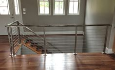 Stainless Steel and Cable - Modern - Staircase - atlanta - by Southern Staircase Cable Railing Systems, Modern Staircase, Interior And Exterior, Stairs, Contemporary, Southern, House, Railings, Home Decor