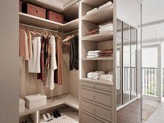 6 Tips to Create a Luxury Walk in Closet Walk In Closet Design, Bedroom Closet Design, Master Bedroom Closet, Home Room Design, Closet Designs, Home Decor Bedroom, Wardrobe Room, Closet Layout, Dressing Room Design