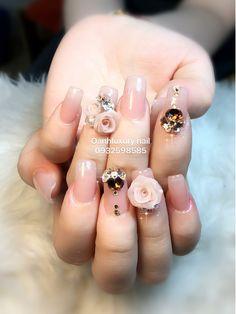 Angel Nails, Finger Nail Art, Acrylic Flowers, Bridal Nails, Beautiful Nail Designs, 3d Nails, Flower Nails, Emboss, Pretty Nails