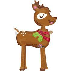 Holiday Reindeer Mylar Balloon