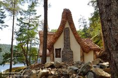 I think Huck would like this because it is a house in the nature by a river.