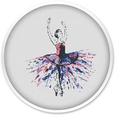 Ballerina Cross Stitch Pattern Free shipping Cross Stitch