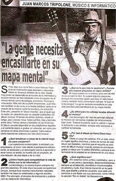 """""""La gente necesita encasillarte en su mapa mental"""" (Entrevista en El Nuevo Diario por el lanzamiento de mi álbum """"Disco Insanity!"""") Musical, Movies, Movie Posters, Maps, Interview, Films, Film Poster, Cinema, Movie"""