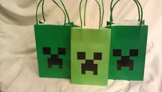 minecraft birthday party favor bags set of 12 by MrKittensCrafts, $15.99