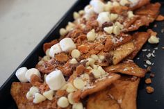 Cinnamon crunch nachos - fun idea for a Super Bowl dessert dish!
