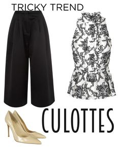 """""""Fashionable"""" by nainkaba ❤ liked on Polyvore featuring Edit, Gianvito Rossi, TrickyTrend and culottes"""