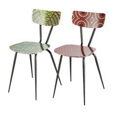 2 chaises imprimés multicolores BAMAKO