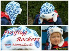Fliegermütze - Erweiterung für das Mützen Freebook Nordish Rockers - freiflugrockers/ Freiflug Rockers by mamahoch2 Sewing For Kids, Baby Sewing, Fleece Hats, Hat Tutorial, Hobbies For Men, Rocker, Mini Me, Make And Sell, Diy Clothes