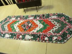 Keepsake quilted Christmas table runner by KaTerryTheSewSisters