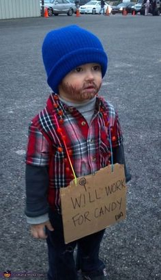 HoBo costume! I think I'm going to do a older girl version of this for my friend's party! I can't wait until Halloween