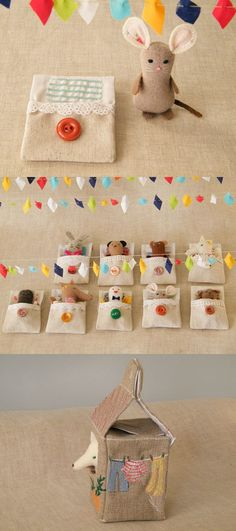 tiny stuffed slumber party idea