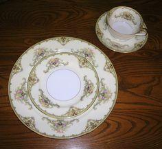 Antique, Vintage, Noritake, Porcelain China, 4 Piece Place Setting, Milford…