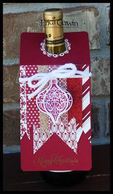 Wine Bottle Tag -- Pink Buckaroo Designs, Erica Cerwin Stampin' Up Demonstrator, San Antonio, TX