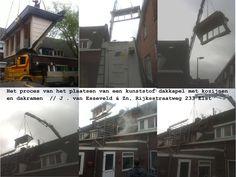 Het proces van het plaatsen van een kunststof dakkapel // J. van Esseveld 7 Zn, 0318-472114
