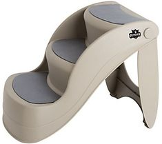 Easy to climb nonslip foldable pet steps provide an easy and safe way for your pet to climb up and down from furniture and cars. Each step has a nonstick pad to help your pet gain the traction needed