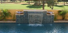 spanish style water feature for pool - Google Search