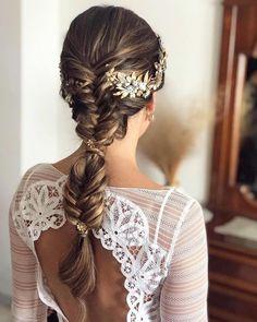 weddings Wedding Hair Half, Winter Wedding Hair, Wedding Hairstyles For Long Hair, Wedding Hair And Makeup, Bride Hairstyles, Romantic Bridal Hair, Fire Hair, Special Occasion Hairstyles, Hair Images