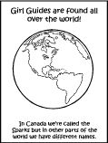 around the world book for sparks! @Jaline Guides of Canada