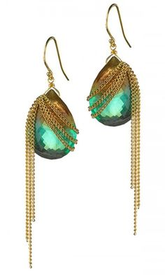 Amali | Max's earrings with bead and chains