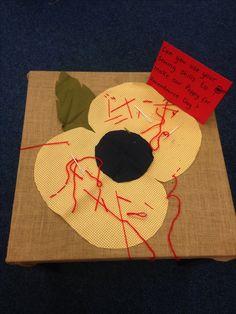 Remembrance Poppy sewing skills. Fine motor skills EYFS. Remembrance Day Activities, Remembrance Day Poppy, Fireworks Craft For Kids, Fireworks Art, Autumn Eyfs Activities, Multicultural Activities, Poppy Craft For Kids, Firework Painting, Remembrance Day
