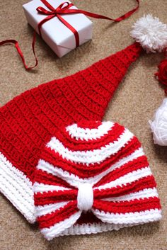 Crochet Christmas Baby Turban Hat Knitted by KThandmadeDesign