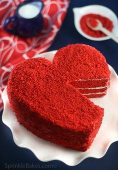 Торт для влюбленных «Алое сердце». Рецепт с пошаговыми фото   Домохозяйка