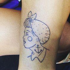 Mais uma pra conta ... 123... #pinup #euqfiz #tattoo #ciadatattoo #aprendiz #iza agora pode chamar @erikaorleans kkkk esta marcado agora.