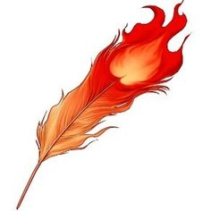 Fire feather Phoenix feather