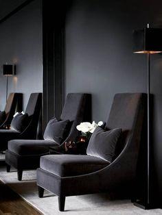 luxury desing, black shades, interior design, black sofas, for more inspirations and ideas visti:http://www.bocadolobo.com/en/inspiration-and-ideas/