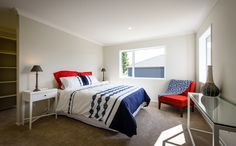 This master bedroom has a large walk in wardrobe that is easily accessed.