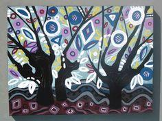 Original Acrylic Painting Landscape Trees Canada -Modern paintings art