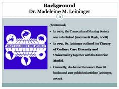 Leininger's Culture Theory