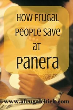 How To Save Money at Panera