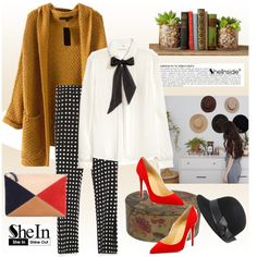 A fashion look from October 2015 featuring H&M blouses, Zara capris and Christian Louboutin pumps. Browse and shop related looks.