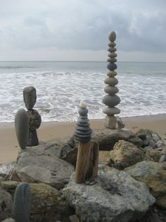 I could spend some time stacking rocks, looks fun! #Motel6UBL Strands Beach, Dana Point, CA